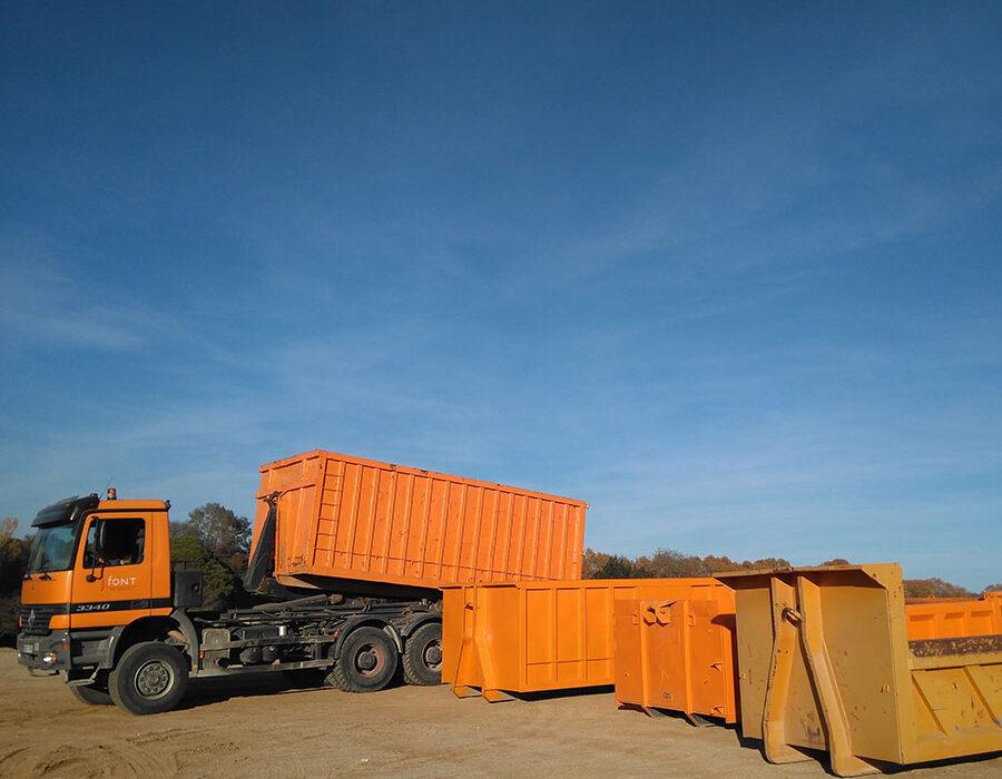 Excavacions font servei de lloguer de contenidors